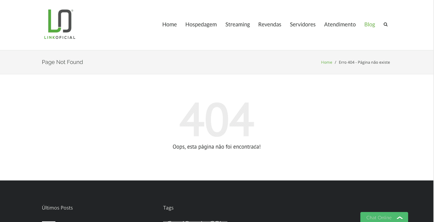 O que é o erro 404?